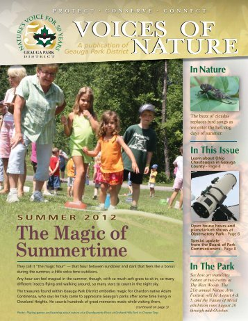 Voices of Nature Summer 2012 - Geauga Park District