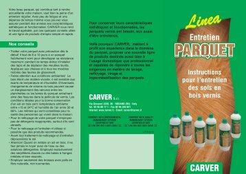 Linea Entretien Parquet - Carver S.r.l.