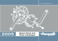 Spare Parts and Tools Catalogue - Campagnolo