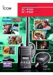 Icom Portable IC - F50 - Two-way radios at SATLEC