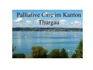Unheilbar krank - was nun? - Spital Thurgau AG