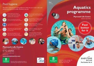 Full Aquatics Programme - Everyone Active