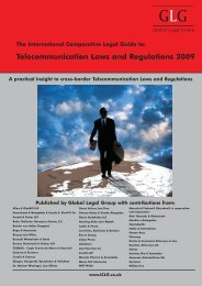 Telecommunication Laws and Regulations 2009 - Olswang