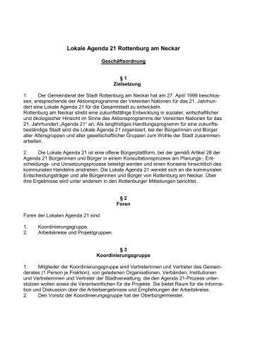 Geschäftsordung der Lokalen Agenda 21 - Stadt Rottenburg am ...