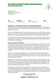 Høringssvar om dimensioneringsplan fra DRRLV Nord