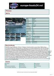 Princess - Boote, Yachten auf europe-boats24.net