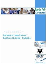 Industriemeister Chemie Broschüre.pdf - Rhein-Erft-Akademie