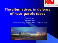 The alternatives: in defence of naso-gastric tubes - BAPEN