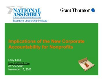 Implications of the New Corporate Accountability for Nonprofits