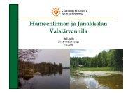 Hämeenlinnan ja Janakkalan Valajärven tila