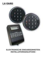 elektronische eingabeeinheiten installationsanleitung - Kaba Mauer ...