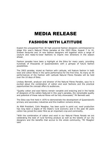 Fashion With Latitude - Ekka