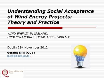 Understanding Social Acceptance of Wind Energy Projects