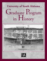Graduate Program in History - University of South Alabama