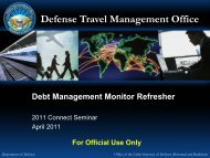 Connect 2011 Seminar - Debt Management Monitor Refresher - DTMO