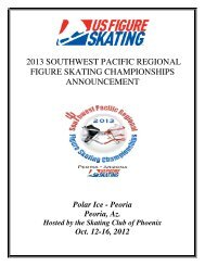 2013 Southwest Pacific Regional announcement - US Figure Skating