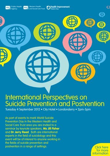 International Perspectives on Suicide Prevention and Postvention