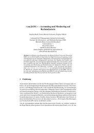 – Accounting und Monitoring auf Rechenclustern