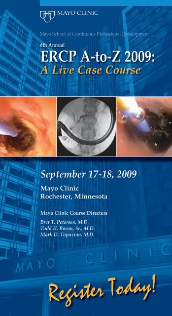 ERCP A-Z 4-Panel, 4-Color Brochure - MC2589-12 - Mayo Clinic