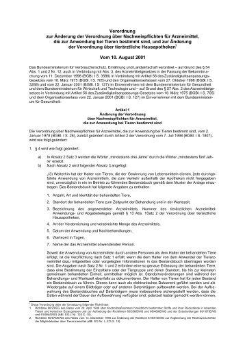 Verordnung zur Änderung der Verordnung über Nachweispflichten ...
