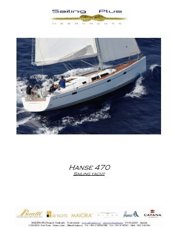 Hanse 470 - SAILING PLUS Yachts