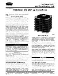 38CKC—50 Hz Air Conditioning Unit Installation and Start ... - Carrier