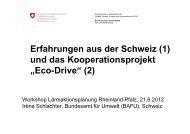 """Erfahrungen aus der Schweiz (1) und das Kooperationsprojekt """"Eco ..."""