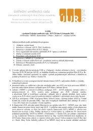 Zápis z jednání ÚUR 8. 11. 2011