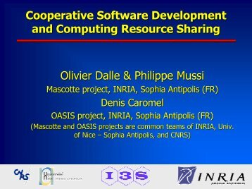 Cooperative Software Development and Computing Resource ...