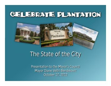 October 17, 2012 Mayor's Council - City of Plantation