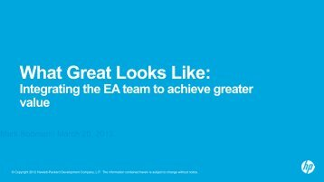 What Great Looks Like: Integrating the EA team to achieve ... - Troux
