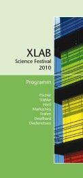Science Festival 2010 Programm - XLAB