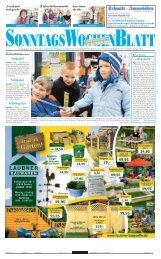 Ausgabe vom 14. 04. 2013 - beim SonntagsWochenBlatt