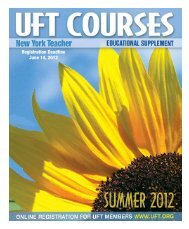 Registration Deadline June 14, 2012 - United Federation of Teachers
