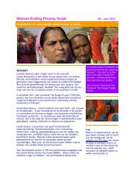 WEP Nieuwsbrief #8 juni 2013 - The Hunger Project