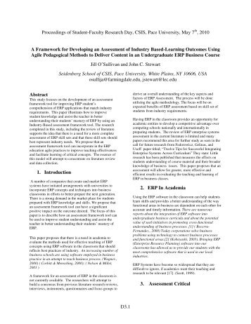 A Framework for Developing an Assessment of Industry Based ...
