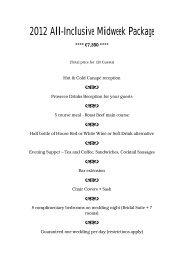 All Inclusive €7350 Midweek Wedding Package - Slieve Russell Hotel