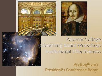 Institutional Effectiveness Report 2011-12 - Palomar College