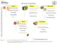 Menu mai juin maternelles - Ville de Saintry-sur-seine