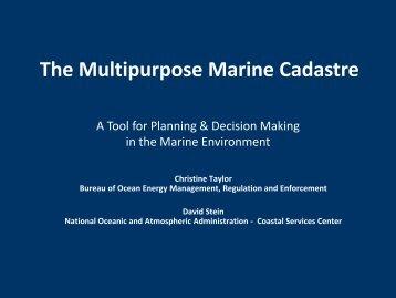 The Multipurpose Marine Cadastre - Marine Conservation Agreements