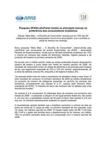 out/09 - Pesquisa APAS/LatinPanel mostra as principais marcas na ...