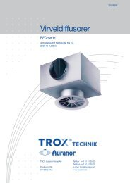 Virveldiffusorer - TROX Auranor Norge as