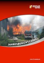 Jahresbericht 2005 - Freiwillige Feuerwehr Oepping