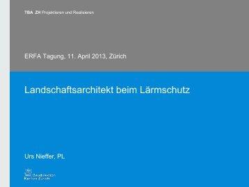 Nieffer: Landschaftsarchitekt beim Lärmschutz