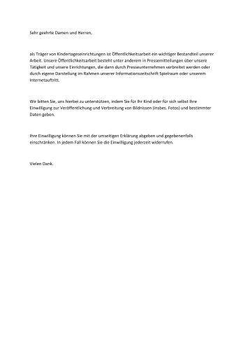 Einverständniserklärung Öffentlichkeitsarbeit - Impuls Soziales ...