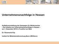 Unternehmensnachfolge in Hessen - UHD