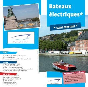 Bateaux électriques* - Province de Liège