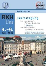 Jahrestagung 2003 - Österreichische Parkinson-Gesellschaft