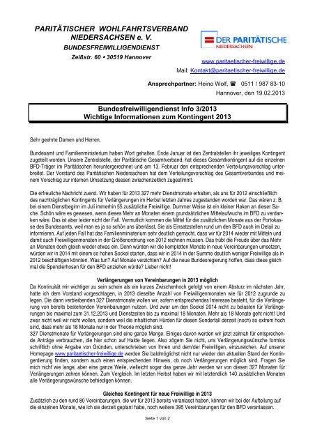 Info 13-03 - Paritaetischer-freiwillige.de