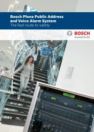 Bosch Plena Public Address and Voice Alarm System - Bosch Security